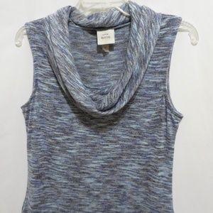 Knox Rose Marled Cowl Neck Long Sleeveless Sweater